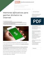 Melhores aplicativos para ganhar dinheiro na internet