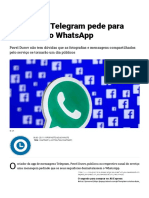 Criador do Telegram pede para deletarem o WhatsApp