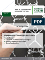 Tema 5.- Desarrollo Del Pensamiento Sociológico