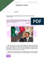 Populismo o muerte (M.     Paquinelli)