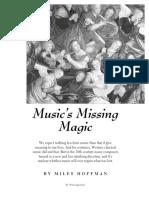 Music's Missing Magic - Miles Hoffman