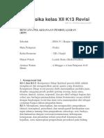 RPP Fisika kelas XII K13