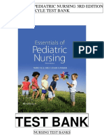 Essentials Pediatric Nursing 3rd Kyle Test Bank