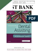 Essentials Dental Assisting 6th Robinson Test Bank
