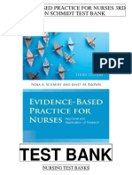 Evidence Based Practice Nurses 3rd Schmidt Test Bank