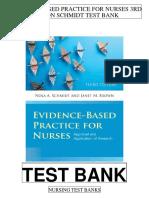 Evidence Based Practice Nurses 3rd Schmidt Test Bank