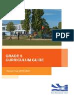 Grade 5 Curriculum Guide 2019-2020