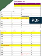 Calendar MCC Slipi