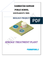 biology project on sewage treatment plant
