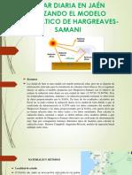 Estimación de La Radiación Solar Diaria en Jaén Diapositivas