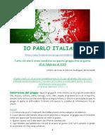 Sintesi del gruppo IO PARLO ITALIANO (10-02-2015)