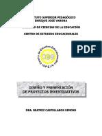 Diseño y presentación Proyectos Versión 2.doc