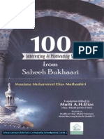 100 Interesting Motivating Stories From Sahih Bukhari By Shaykh Muhammed Elias Mathaahiri