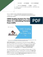 Cbse Grading