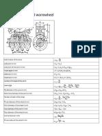 Worm Design Formula