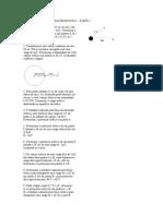 LISTA de EXERCICIOS - Campo e Potencial Eletrico