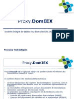 Proxy.domiEX Système Intégré de Gestion Des Domiciliations ImportExport