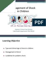 Management of Shock in Children