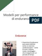 Modelli Di Performance Di Endurance e Adattamenti Fisiologici
