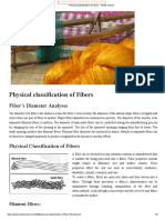Physical classification of Fibers - Textile School