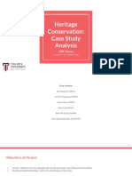 project 1  heritage conservation
