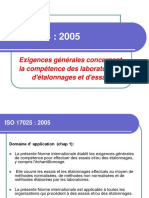 ISO 17025 partie 2 Chapitre 5 formation