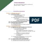 Plan Détaillé Droit Fiscal International