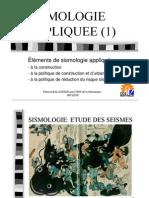 SISMOLOGIE APPLIQUEE Niveau Sup Vol 1 Mecanismes
