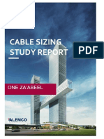 ONE ZA'ABEEL Cable Sizing report Rev-1