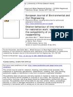 VipDilation Behaviour of Lime Mortars for Restoration Work