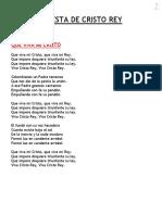 CANTORAL PARA LA FIESTA DE CRISTO REY