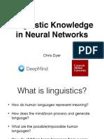 Lecture 13 - Linguistics
