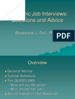 Foti Academic Job Interview 3-19-09