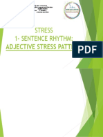 VI- STRESS IN ADJECTIVES