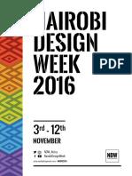 NAIROBI DESIGN WEEK 2016 | Festival Guide | #NDW2016