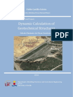 Dynamic calculation of geothecnical structures
