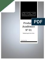 Producto Académico N° 1 - Marketing de Servicios