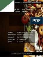Informe Restaurante