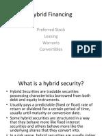 Hybrid Financing