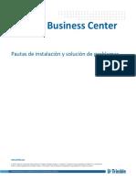 Problemas y resolución durante la instalación de Trimble Business Center