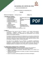 SILABO DE HIDROLOGIA GENERAL