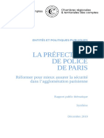 Synthese Prefecture Police Paris