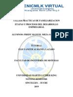 Taller 7 Etapas  y procesos del desarrollo empresarial