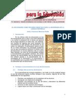 Lectura de enseñanza de idiomas y el diccionario