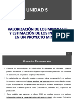 Unidad 5 Valorizacion de Los Minerales y Estimación de Los Ingresos de Un Proyecto Minero