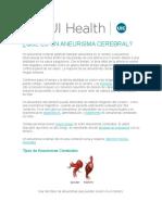 ANEURISMA CEREBRAL (UI HEALTH)