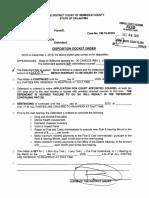 Tanner Washington Disposition Docket Order