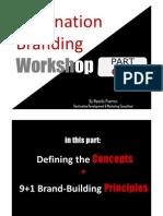 Destination Branding Workshop PART I