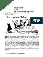 Comentario jurisprudencial sobre la sentencia del caso Petroaudios