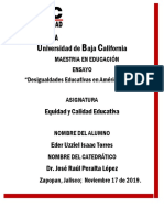 Ensayo Desigualdades Educativas